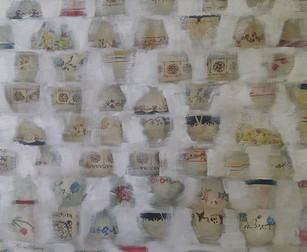 'White washed cups' by Miriam McConnon