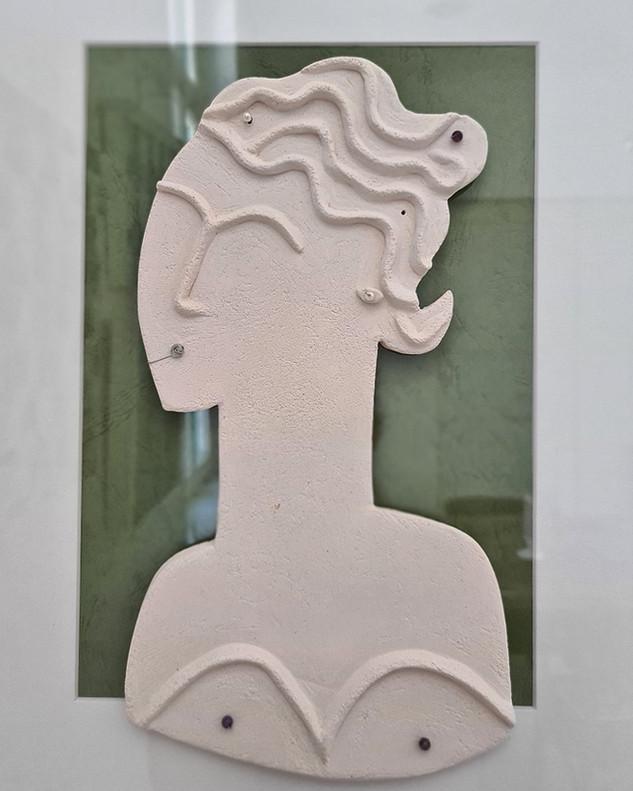'Woman in green' by Constantia Hadjisavva