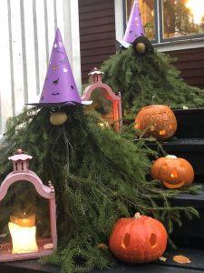 Halloween valmisteluja