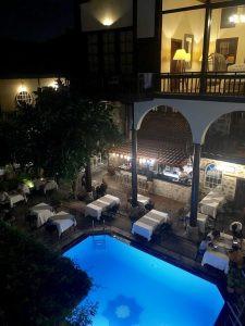 Alp Pasa hotel at night