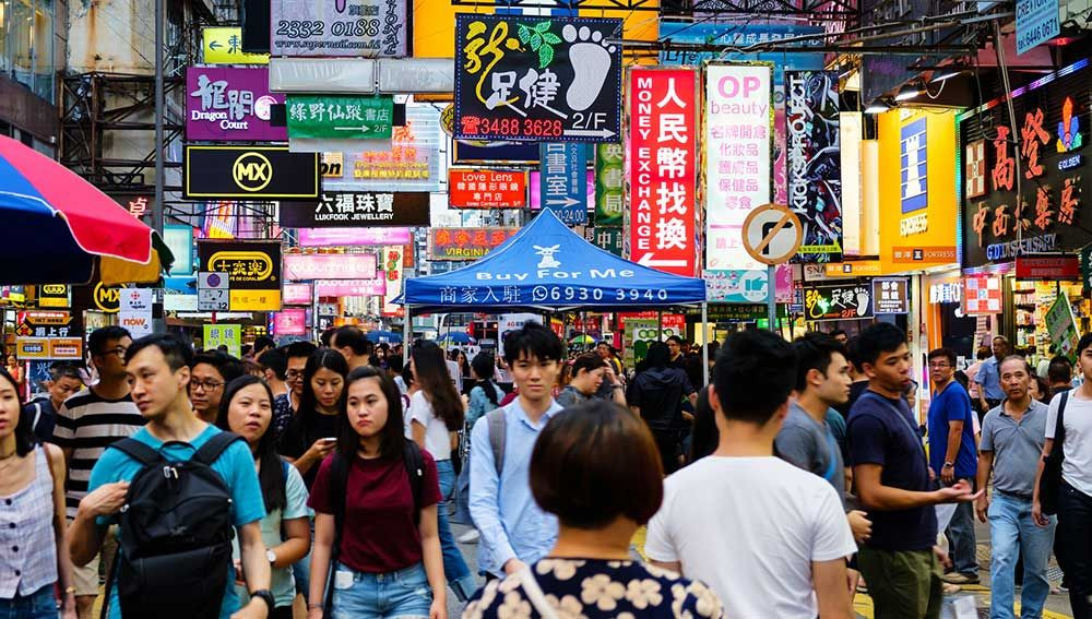 Det är förbjudet att kasta skräp på gatorna i Hongkong.