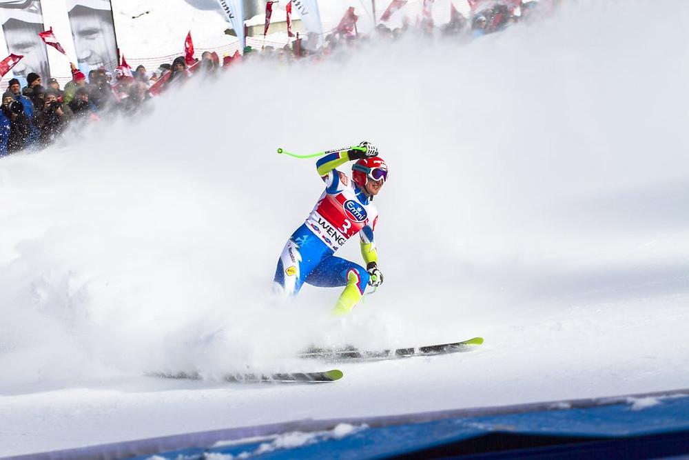 Man Doing Snow Skiing