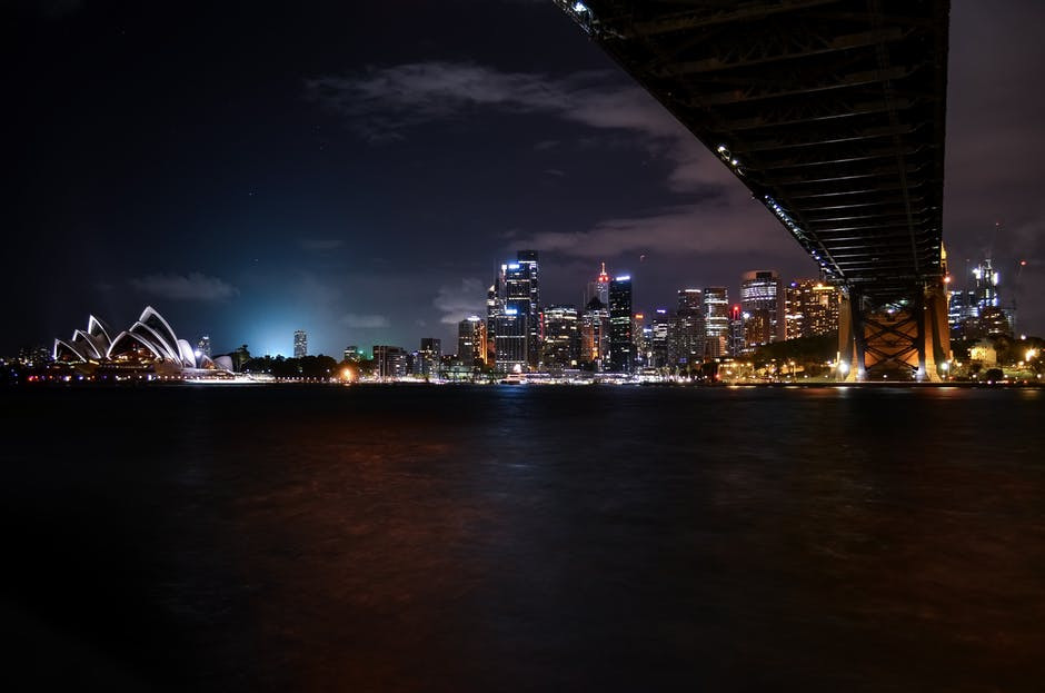 Low-angle Photography of Lighted City Landscape