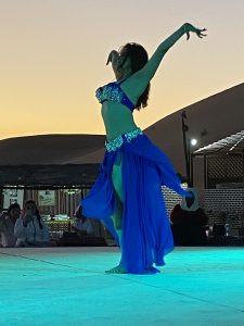 belly dancer dressed in blue
