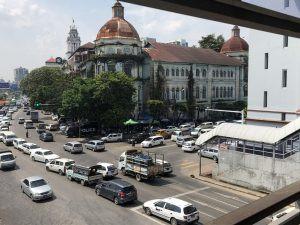 Yangon, Myanmar – ensimmäinen päivä