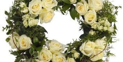 Contemporary White Wreath