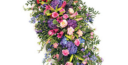 Country Garden Coffin Spray