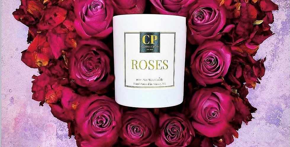 'ROSES' by CP Candles