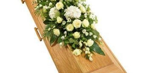 Modern White Coffin Spray