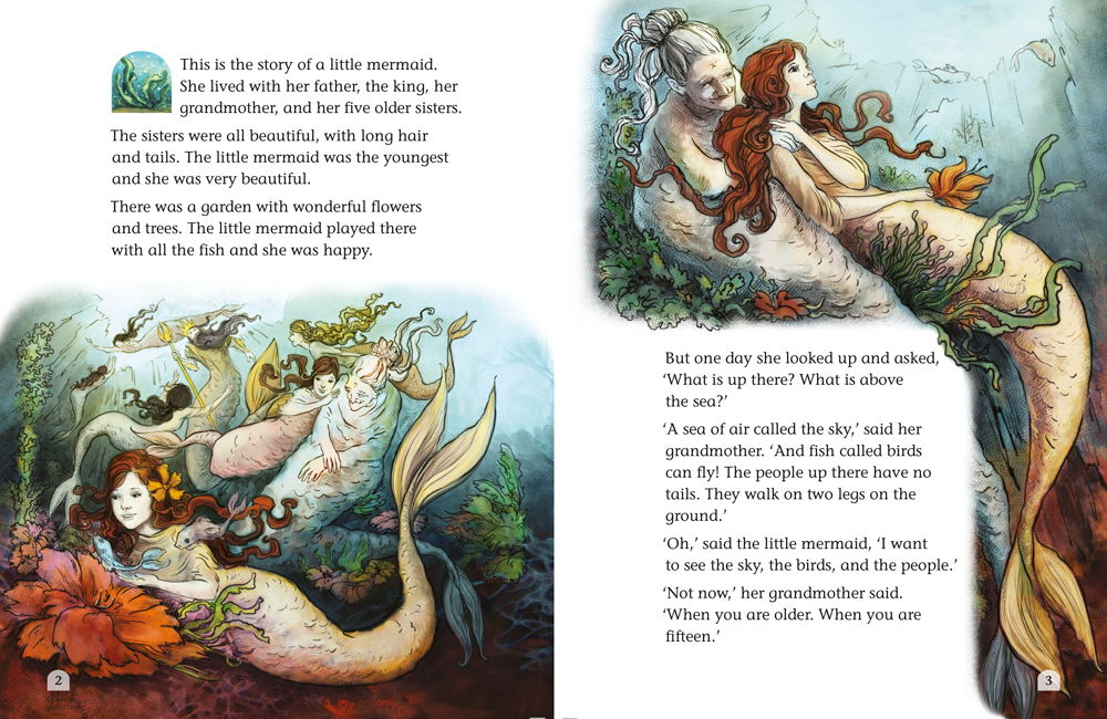 The little mermaid book page