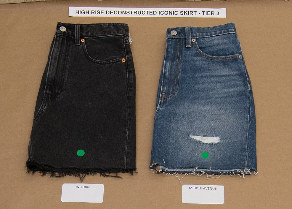 WB_HIGH RISE DECONSTRUCTED ICONIC SKIRT