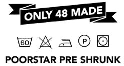Poorstar clothing Tshirts, Snapback Hats, Sunglasses are produced in a limited and numbered amount.