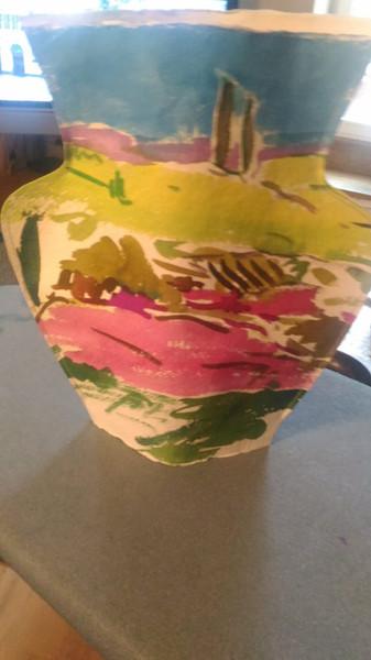 Jarrones, papel hecho a mano de 300 gr. Medidas 30x30