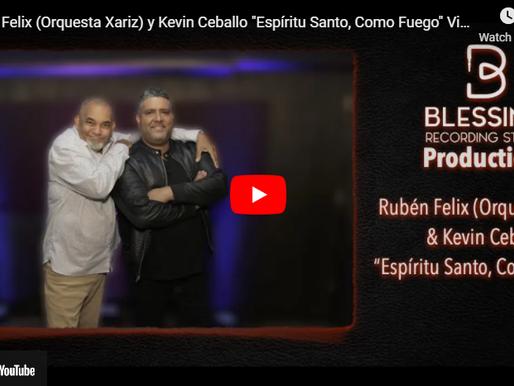 Rubén Felix de la Orquesta Xariz y Kevin Ceballo unen sus voces en «Espíritu Santo, Como Fuego»