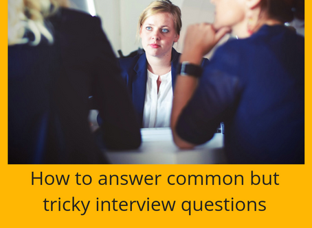 How to answer those tricky interview questions
