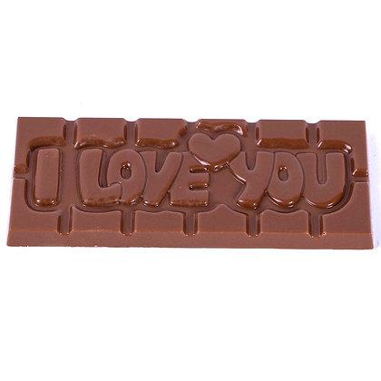 Tablette I LOVE YOU Chocolat Noir/Lait/Blanc ou Ruby