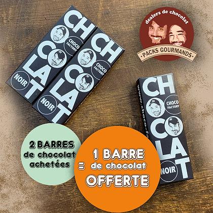 Pack de 3 Barres de Chocolat Noir (2+1 Gratuite)