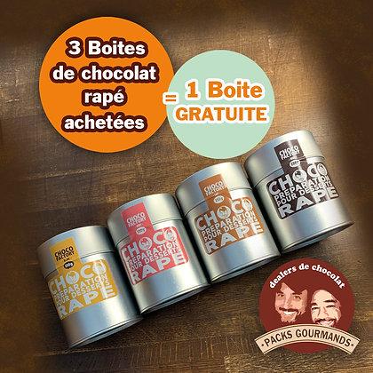 Pack 4 boîtes de Chocolat Râpé (3+1 Gratuit)