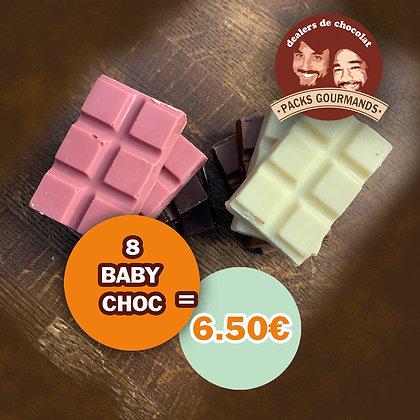 Pack 8 Baby Choc