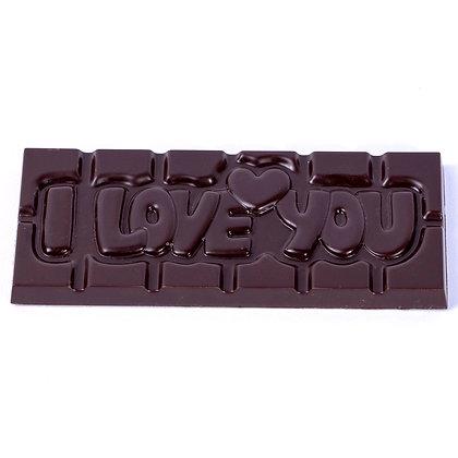 Tablette I LOVE YOU Chocolat Noir/Lait/Blanc ou Ruby aux Noisettes