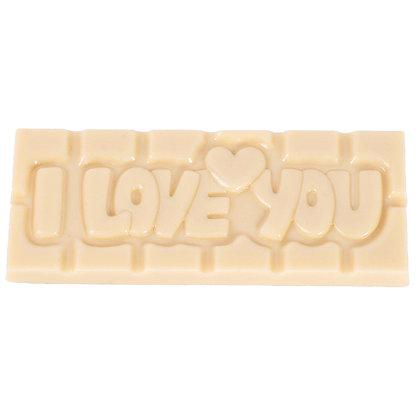 Tablette I LOVE YOU Noir/Lait/Blanc ou Ruby aux Amandes