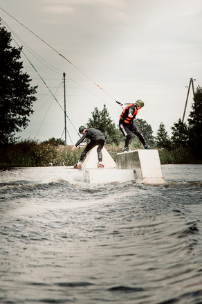 Wakeboarding with friends