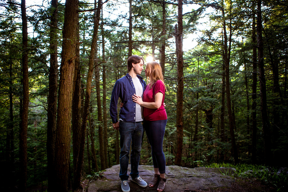 Vermont Engagement Photos Red Rocks Burl