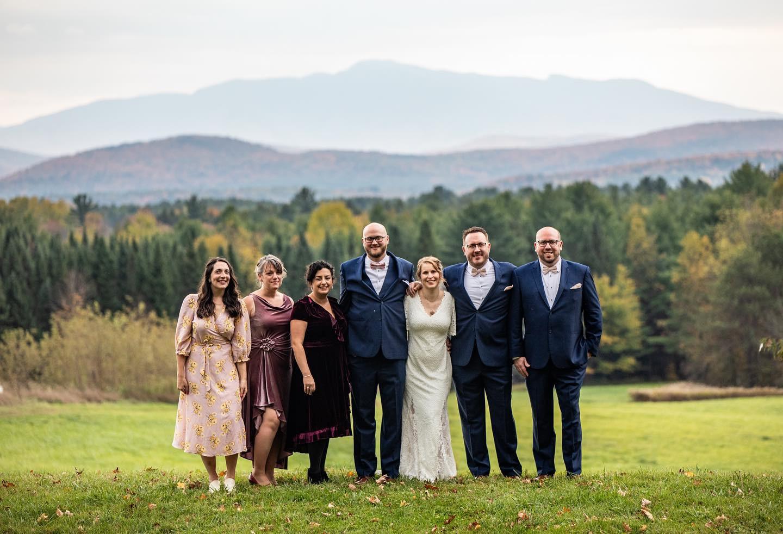 Vermont Wedding Party Mount Mansfield