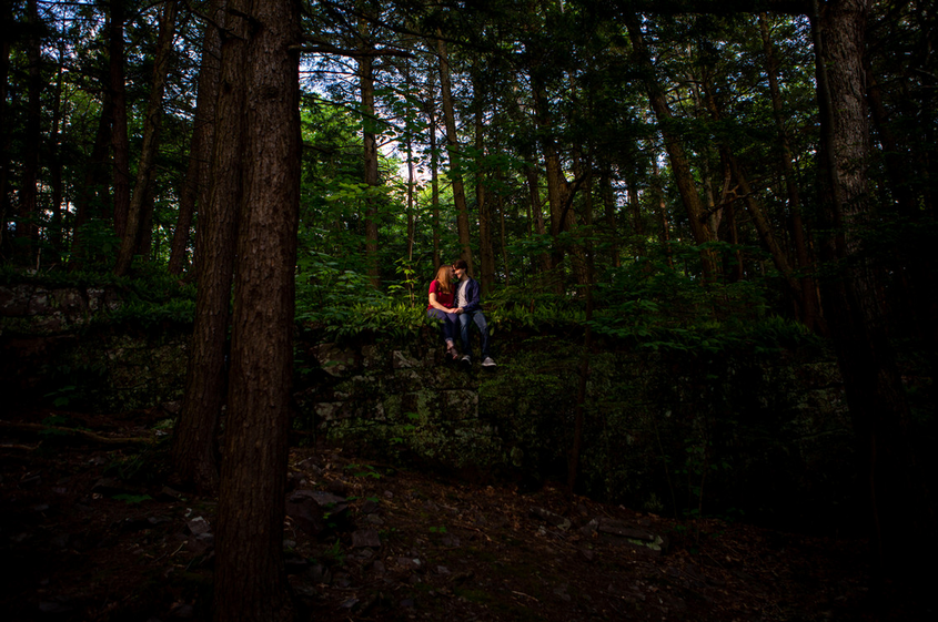 Vermont Engagement Photography Red Rocks