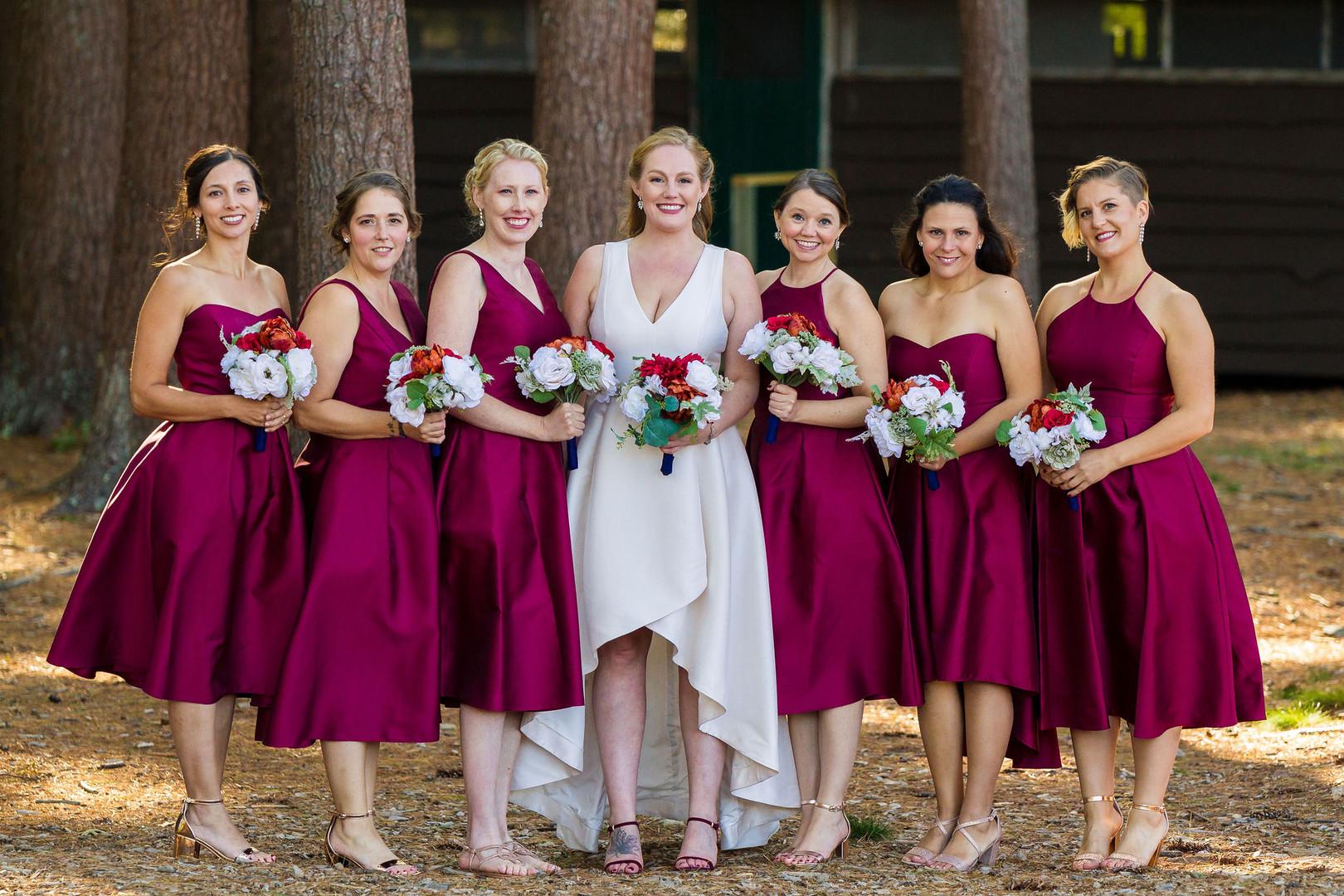 Vermont Bride and Bridesmaids
