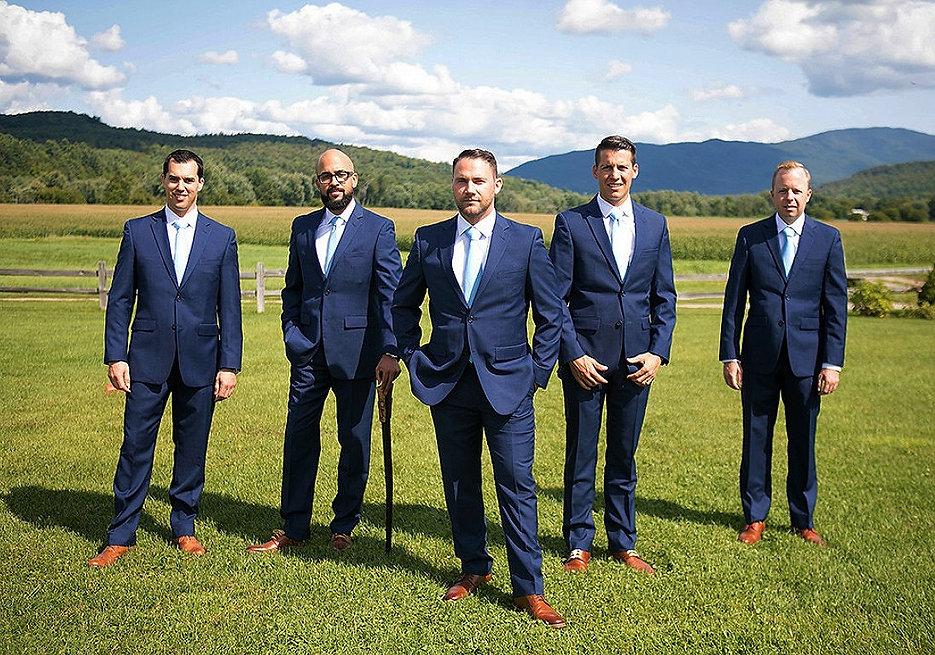 Grooms and groomsmen boyden vallery verm