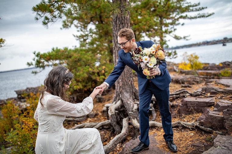 Vermont Bride and Groom Elopement
