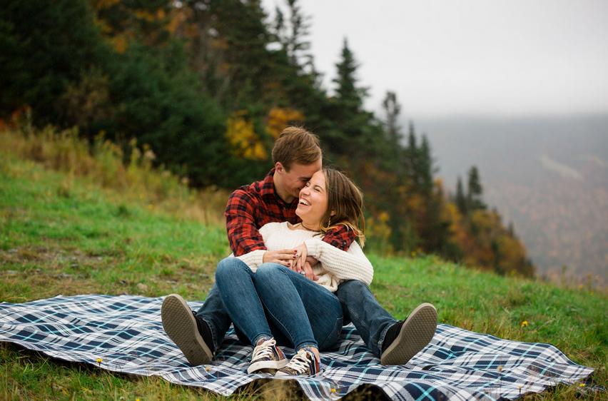 Vermont Couple Mount Mansfield Engagemen