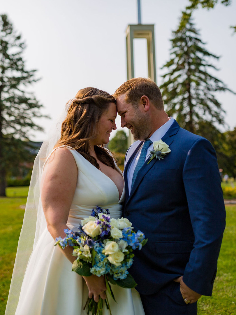 Bride and Groom at St. Michael's College Vermont