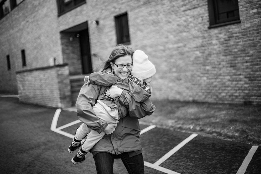Vermont Family Photography Urban Black and White