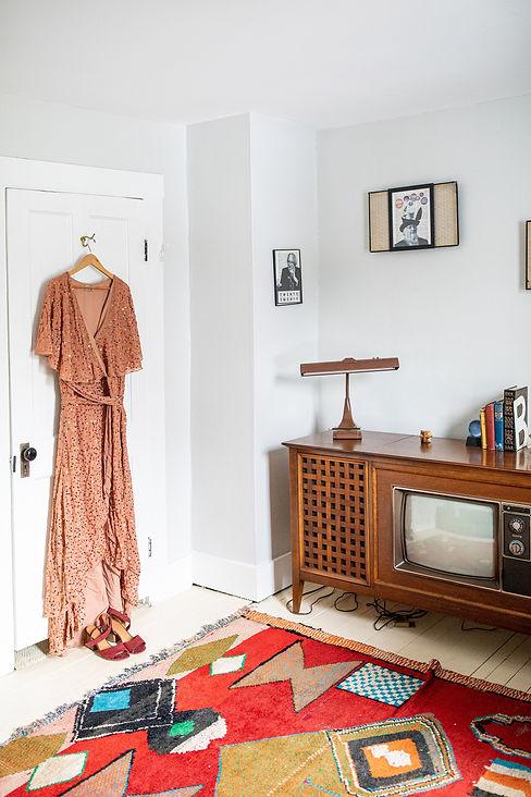 Orange Sequin Wedding Dress Vintage TV g