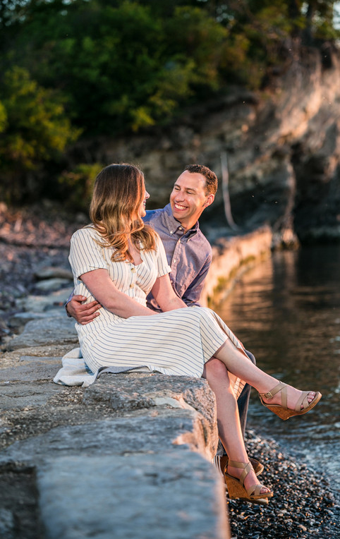 Vermont Engagement Couple Shelburne Farm