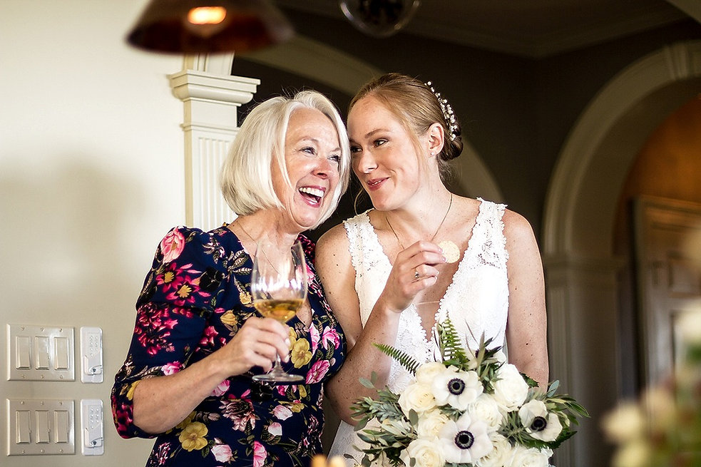 bride and mother of the bride reception shelburne farms