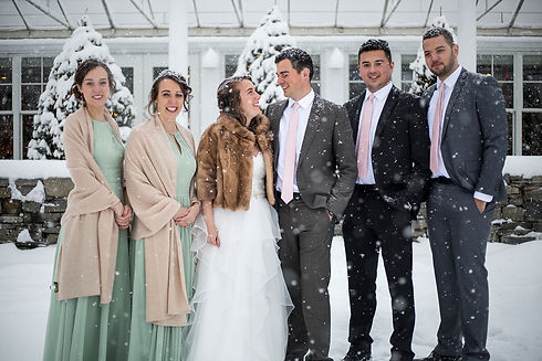 Burlington Vermont Winter Wedding Party