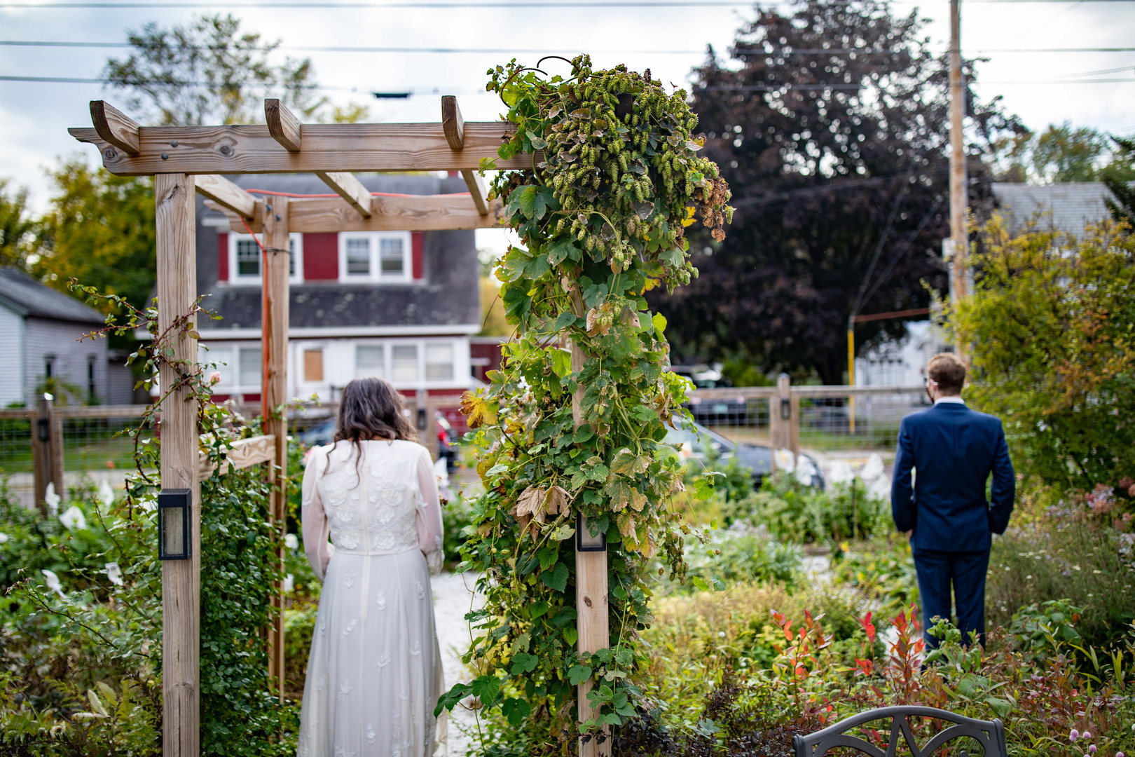 Vermont Bride and Groom First Look