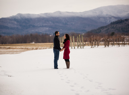 Alyssa and Doug's Snowy Session