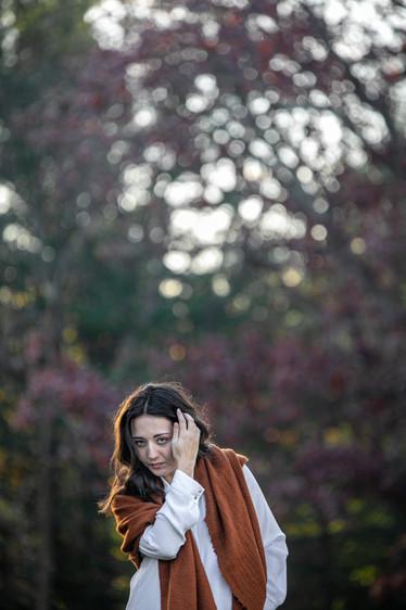 Female Portrait Brunette Vermont Branding Photography