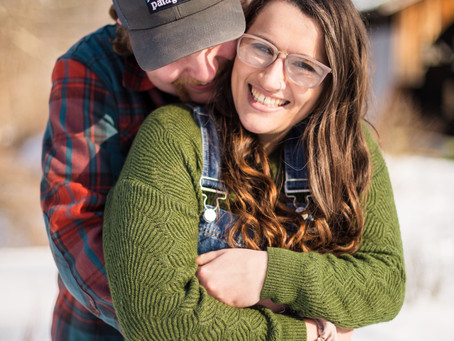 Mariah & Ethan's Covered Bridge Engagement Session