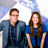 "Dan Riskin and Ziya Tong of Discovery Channels ""Daily Planet"""