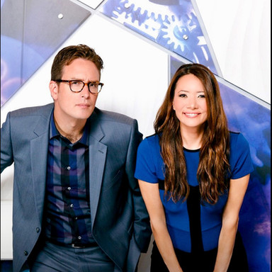 """Dan Riskin and Ziya Tong of Discovery Channels """"Daily Planet"""""""