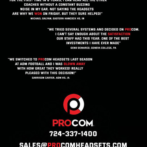 ProCom Products Back Cover