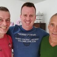 Letzte Vorbereitungen für den Karate Kurs... Markus Trink, Phil Holmes und Philipp Schleucher am 24.03. im Glarnerland