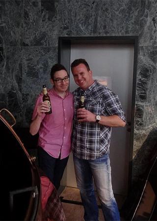 Phil und Gary Nuttall (Robbie Williams Band, Kylie Minogue etc.) nach dem gemeinsamen Workshop