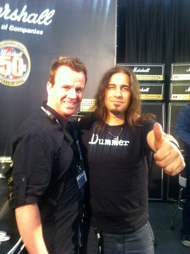 Phil mit Brian Tichy (Whitesnake, Billy Idol Band etc)