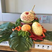 Dekoration Gemüse schnitzen